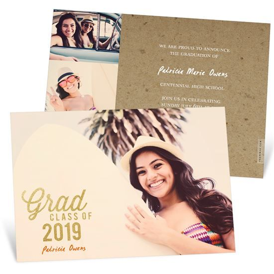 Favorite Photo Gold Foil | Graduation Announcements