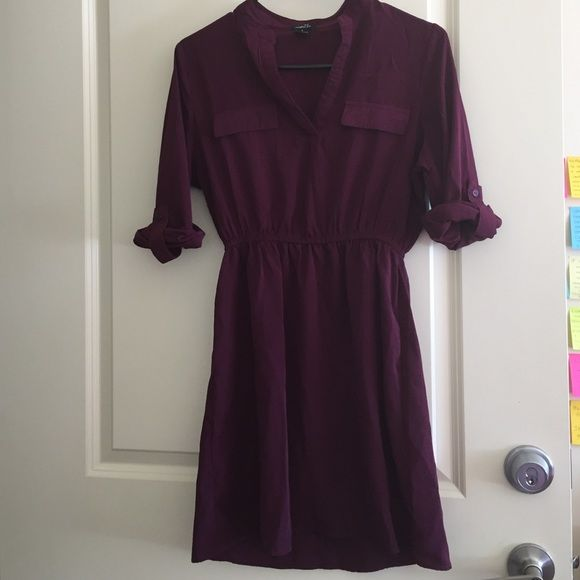 Plum Dress Sheer, chiffon like material, needs to be pressed as you can see! Other than that, it's in excellent condition. Rue 21 Dresses Long Sleeve