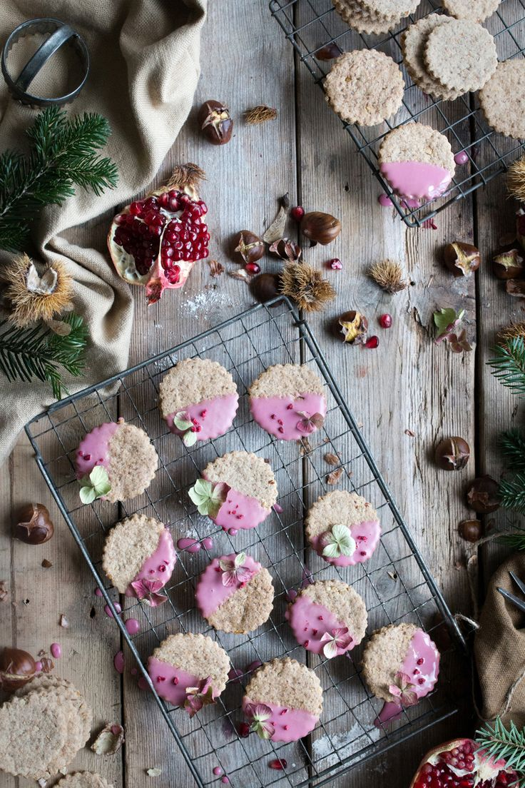 Vegan Christmas Cookies with pomegranate glaze - the Little Plantation + Twigg Studios