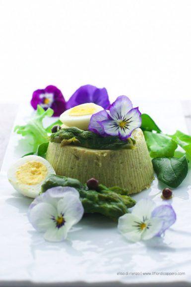 Sformato di asparagi verdi e ricotta di bufala