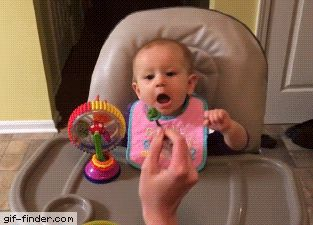 Baby Gets Her Life Ruined by Broccoli | Gif Finder – Find and Share funny animated gifs