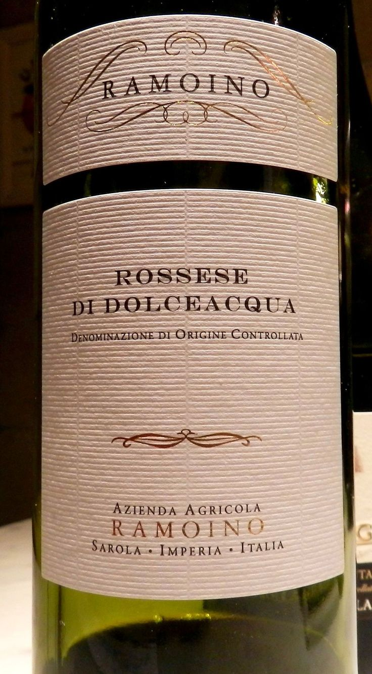 Genoa 2014 - Wine 1 -  A wonderful wine - Rossese di Dolceacqua.  It is produced in the medieval town of Dolceacqua, the oldest community in the Val di Nervia. - Sublime.