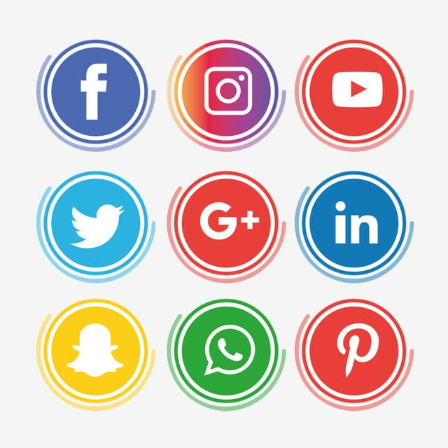 Social Media Icons Set Instagram Whatsapp Social Media Clipart Instagram Icons Whatsapp Icons Png And Vector With Transparent Background For Free Download Social Media Icons Media Icon Social Media Logos