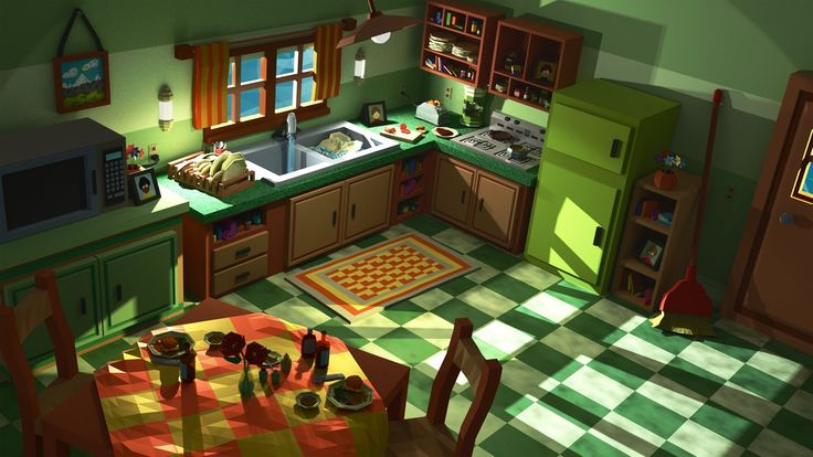 Low Poly Kitchen Scene by Obsidianmoon13