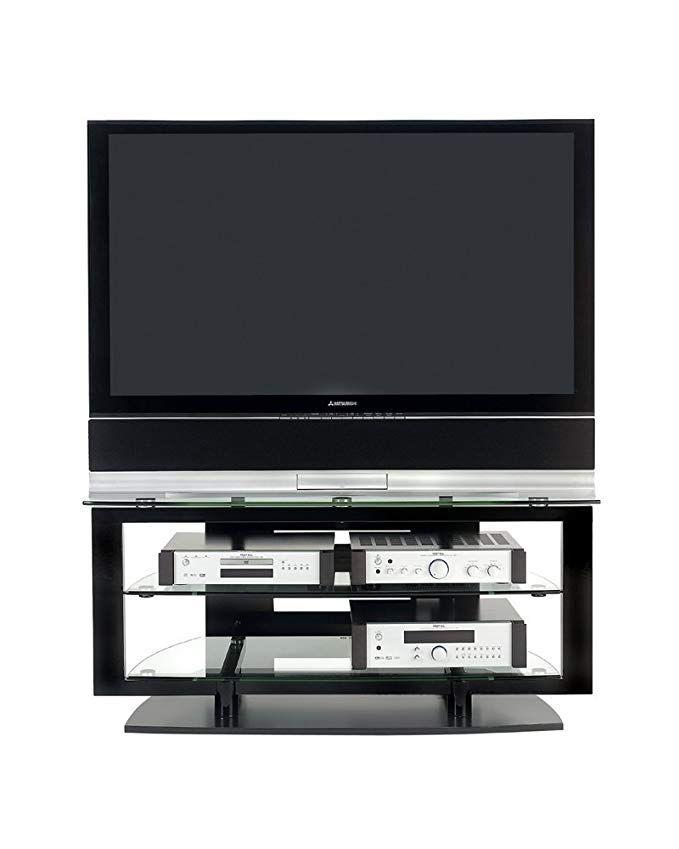 Bdi Icon 9425 Double Wide Open Tv Stand For Corner Gloss Black