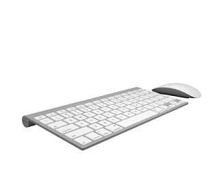 Keyboard and Magic Mouse by Apple Free 3D Model