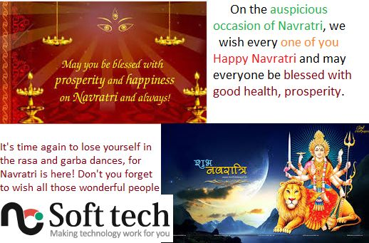 On the #auspicious occasion of Navratri, #NCSofttech wish every one of you #HappyNavratri and may everyone be blessed with good health, prosperity.