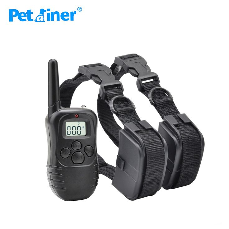 Petrainer 998D-2 Remote control electric shock collar for dogs 100lv shock+vibra+lcd smart dog training collar #Affiliate