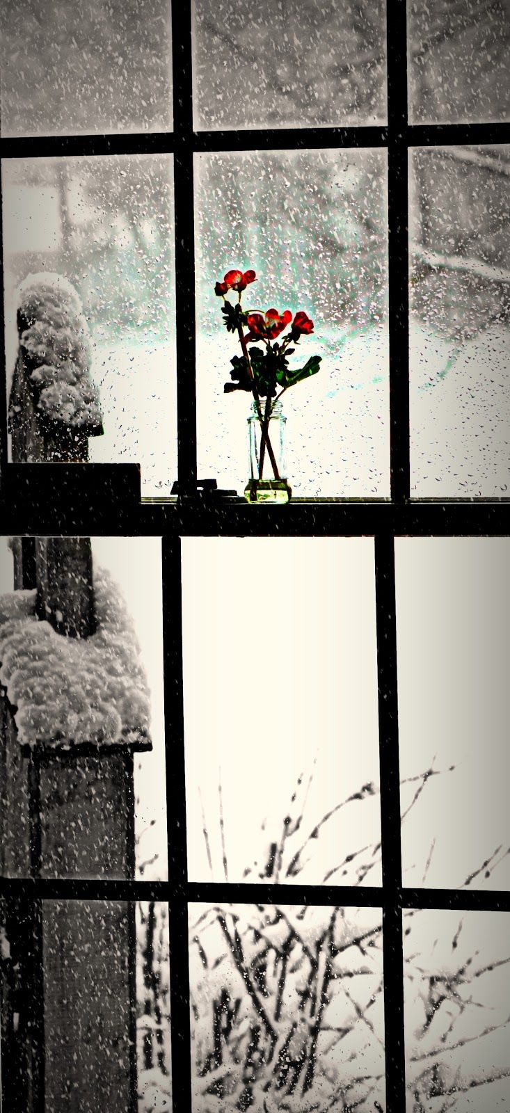Snowing outside