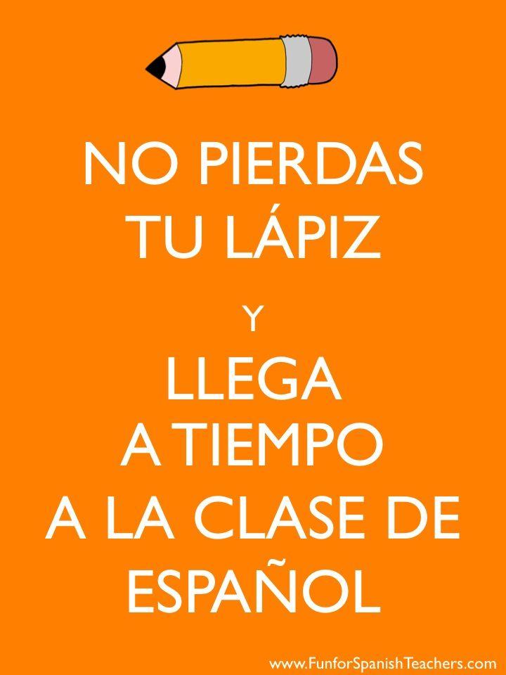 Great for middle and high school Spanish teachers  Via https://www.facebook.com/FunforSpanishTeachers