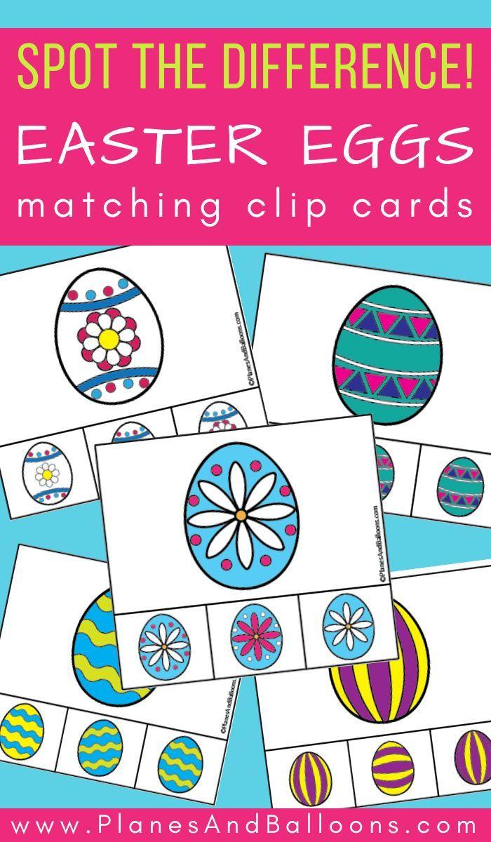 Easter Eggs Matching Clip Cards For Visual Discrimination Easter Activities For Preschool Easter Kindergarten Easter Preschool [ 1200 x 700 Pixel ]