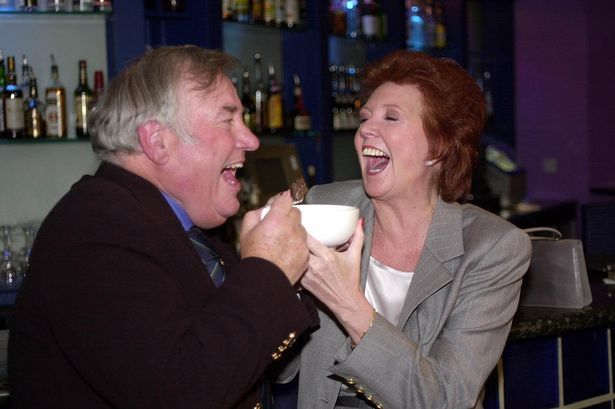 Cilla Black and Jimmy Tarbuck during the inaugural International Scouse Day in 2000