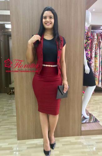 75732b5306 Floratta Modas - Moda Evangélica - A Loja da Mulher Virtuosa Saia Lápis  Como Usar