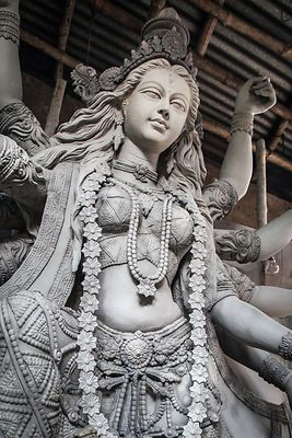 Several debates surround the moribund tradition of using mud of the brothels. Durga Idol making is incomplete without the pristine clay from the house of the prostitute. The belief is that the soil should be begged for and received from a prostitute's hand as a gift or blessing. The soil is then used in the preparation of Durga Murti which is worshipped during Durga Puja.