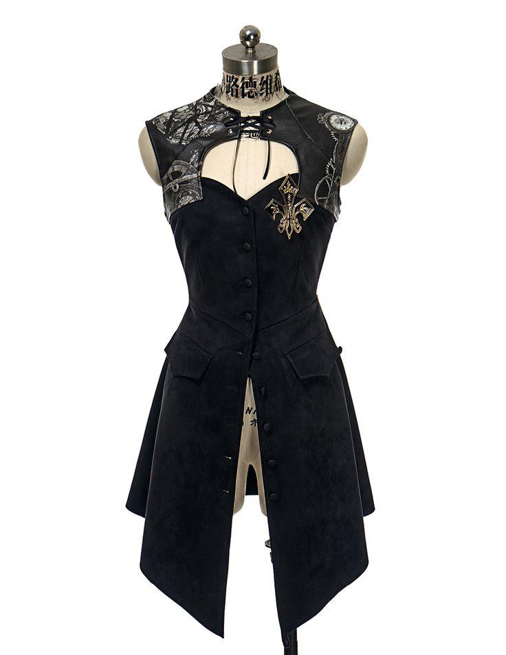 fanplusfriend - Machine Birdcage, Gothic Steampunk Retro Patterned Steel Boned Sleeveless Dress/JSK Jacket*Black Instant Shipping, $118.00 (http://www.fanplusfriend.com/machine-birdcage-gothic-steampunk-retro-patterned-steel-boned-sleeveless-dress-jsk-jacket-black-instant-shipping/)