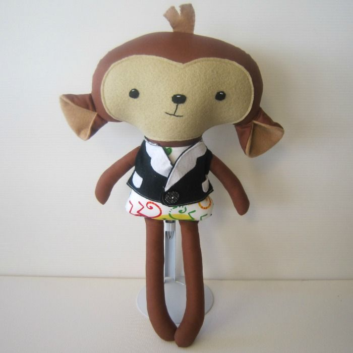 Monkey Softie | Chelle Belle | madeit.com.au