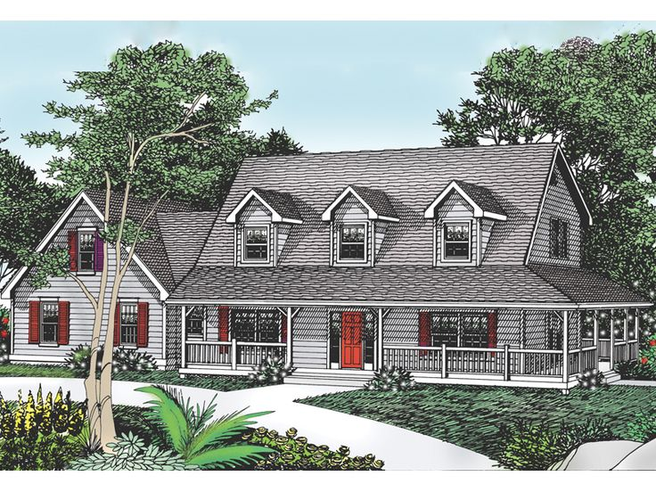 Cottage hill cape cod style home house plans the for Cape cod cottage style house plans