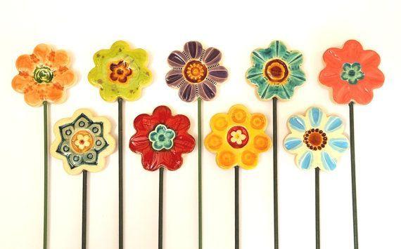 Keramik Flower Planter Decor – Garten Dekor Keramik – Frühling Pflanzer Kunst Pos …   – Keramische Kunst