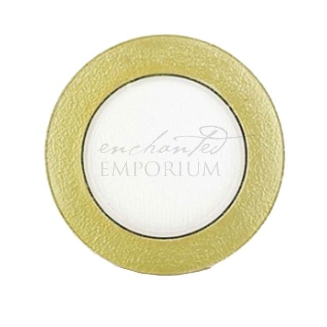 Thick Gold Edge Glass Charger Plates, Enchanted Emporium
