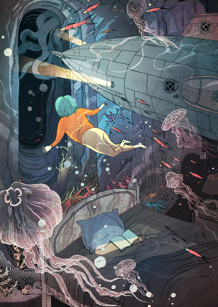 victongai:  Captain Nemo Victo Ngai Nautilus is a marine organism, Captain Nemo's submarine, as well as an exciting online magazine launched this week, dedicated to science, philosophy AND committed to illustrations! Check out the cool articles and art on their site: http://nautil.us/