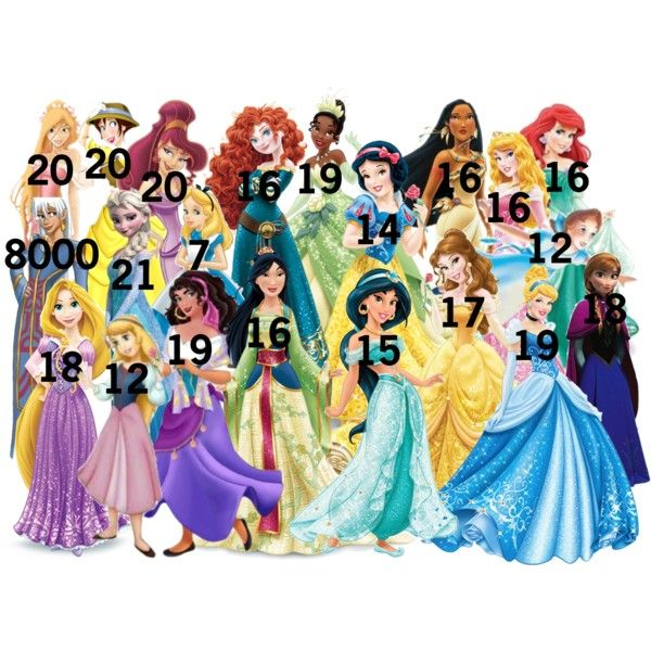 Disney Girls' Ages by divergenttributefromdisneyworld on Polyvore featuring polyvore and art