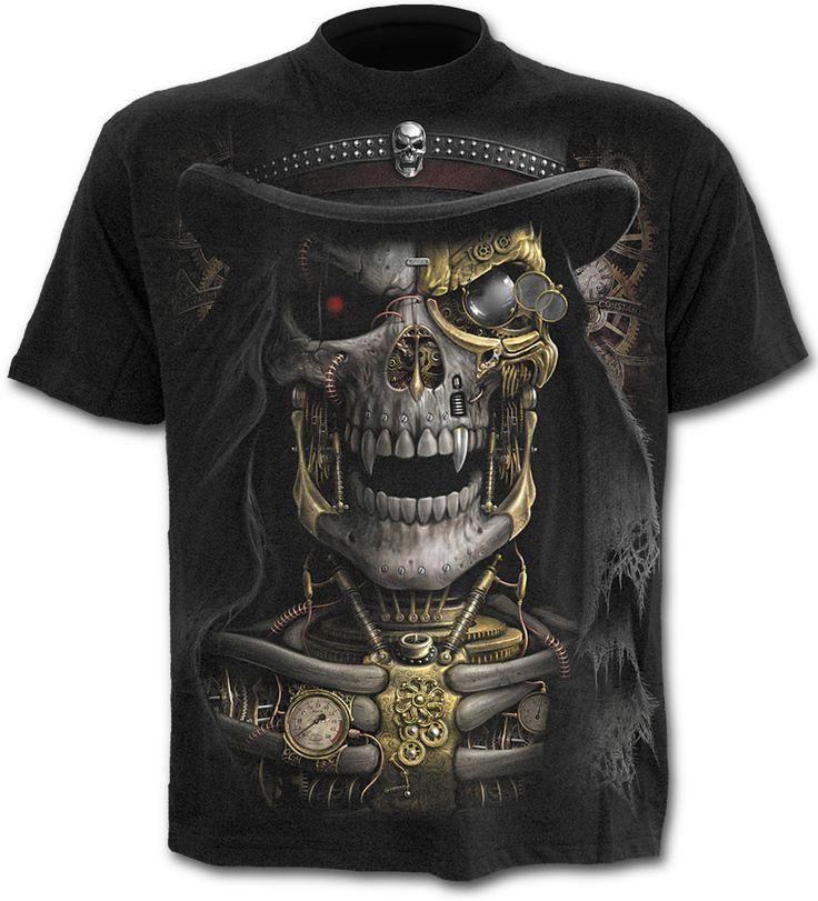 Camiseta Steampunk Reaper #spiraldirect #calavera #rock #metal #xtremonline