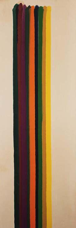 "peinture abstraite US : Morris Louis, ""Approach"", 1962, rayures"