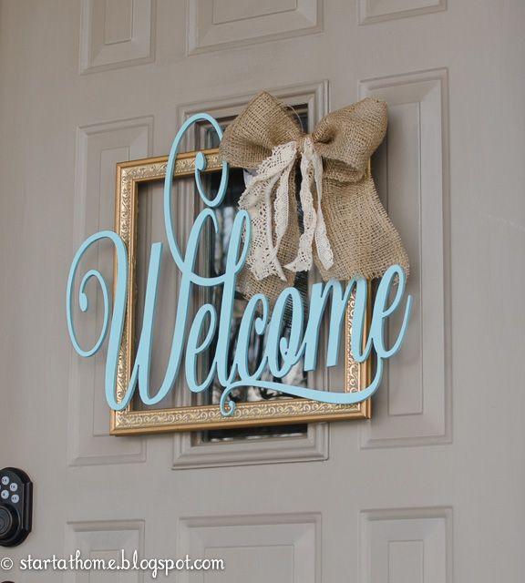 I have been wanting a welcome sign on my front door but I didn\u0027t & Best 20+ Welcome door ideas on Pinterest   Door signs Welcome ... Pezcame.Com