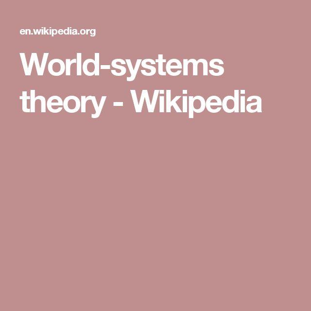 World-systems theory - Wikipedia