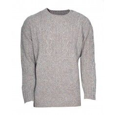 Bolongaro Trevor Fisherman Knit Griege made from British Shetland Wool.