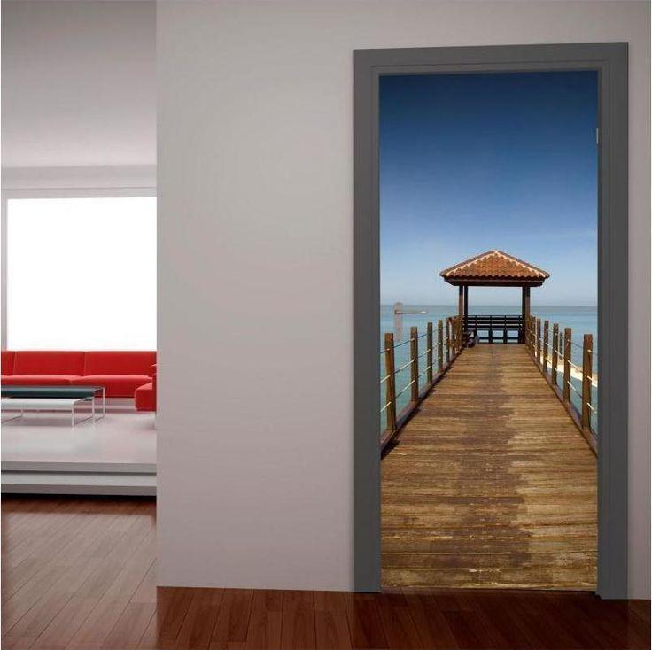 Προβλήτα στον ορίζοντα, αυτοκόλλητο πόρτας