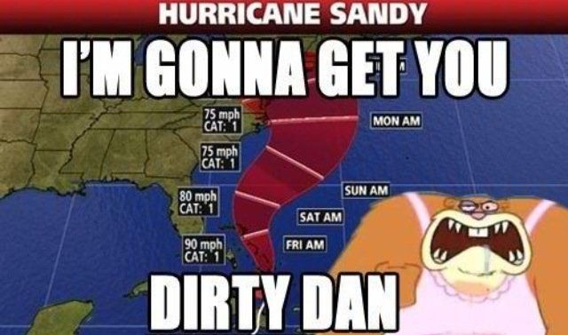 Remember back in 2012 when Hurricane Sandy came and attacked the East, NE & SE? Well, she's back, better than ever....! Please don't kill me.