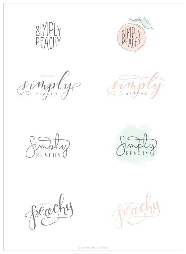 Simply Peachy - Logo and Blog Design - Saffron Avenue : Saffron Avenue