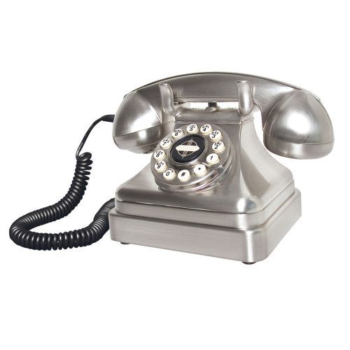 Lobby Chrome Telephone from Wild & Wolf. Buy from the online gift shop at English Heritage.