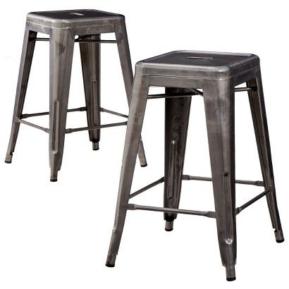 Carlisle Metal Counter Stool Set Of 2 For The Home