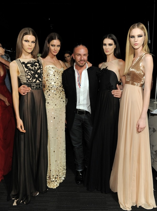 Ready to runway! Backstage with some of the models for the L'Oreal Melbourne Fashion Festival.