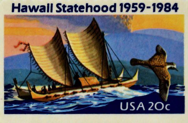 The Hawaii Statehood stamp