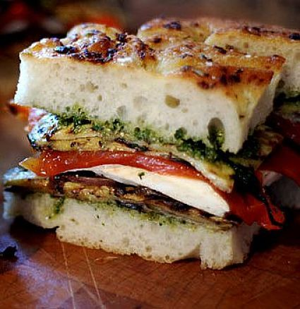 Pesto is a lovely additio to a sandwich or toasted snack