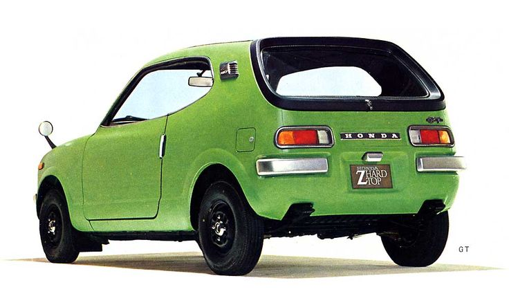 Honda Z coupe (1970 - 74)  came with an air cooled 354cc 2 cylinder engine or the sportier Z600 - with a 598cc engine. It originally sold at Honda Motorcycle dealerships until the arrival of the Civic & Honda Car dealers