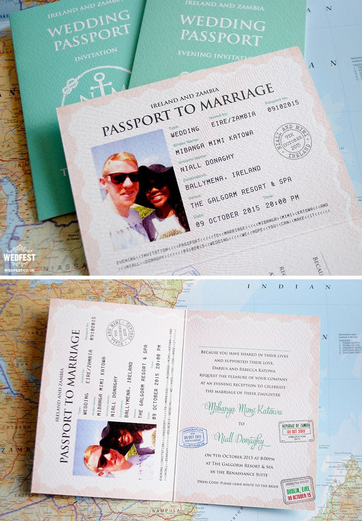passport to marriage wedding invitation
