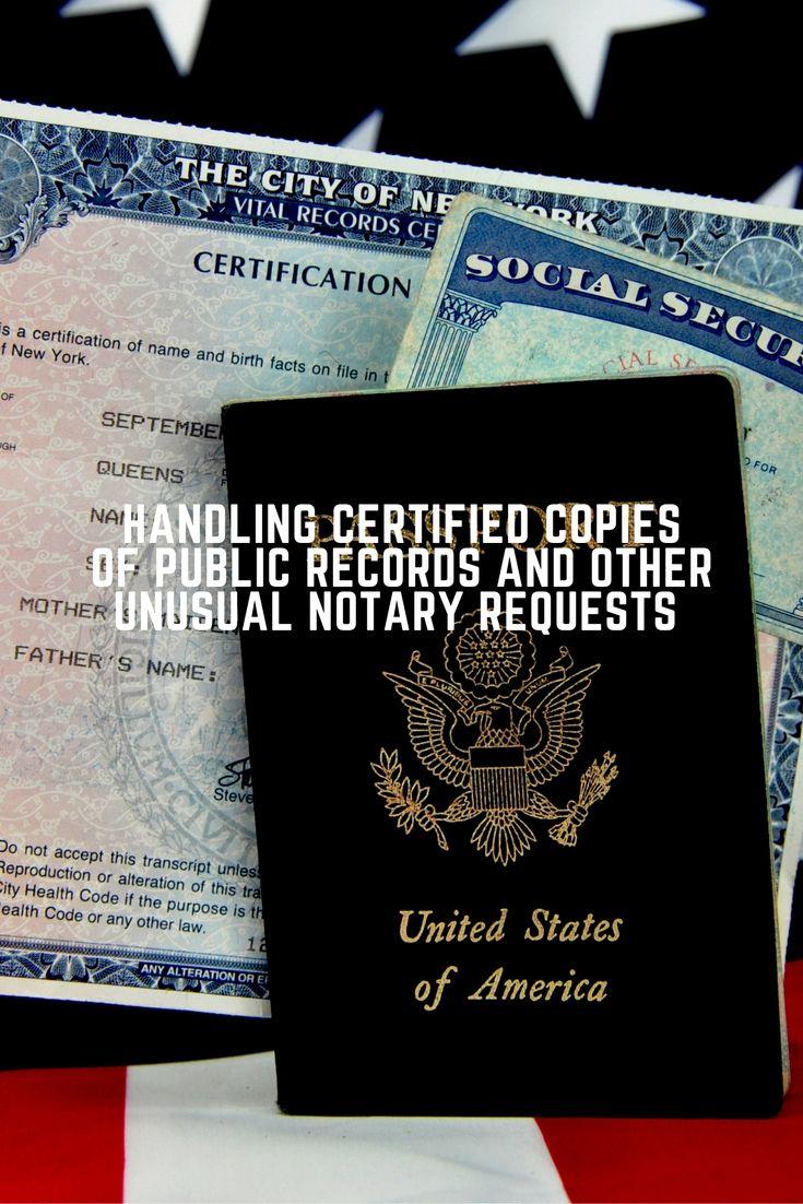 Public marriage certificates
