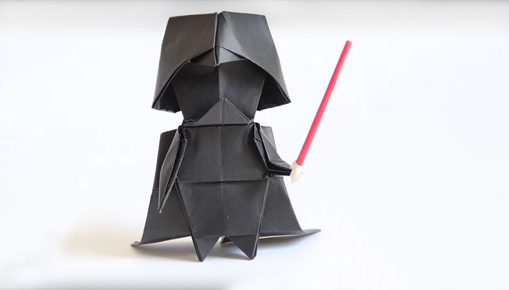 Darth Vader never looked so cute! Or, come to think of it, so fragile. He certainly doesn't look capable of leading the Empire's eradication of the Jedi Order. If only Luke had this little guy to deal with instead of the real thing! This decidedly less formidable version of the Galactic Republic's most renowned villain was created by origami master Tadashi Mori. Want to make one of your own? Then just follow the instructions in the video below! You can also check out Tadashi's YouTube page…