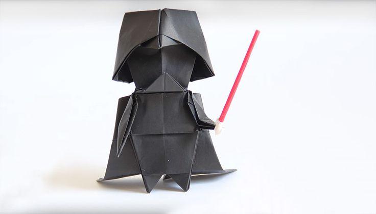 Aprenda a fazer um Darth Vader de origami