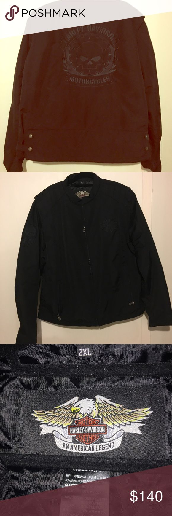 Harley Davidson Jacket- shell XXL Bought from Harley Davidson store 3 years ago . No receipt but in mint condition only worn a few times. Bought for 190$ selling $140 Harley-Davidson Jackets & Coats Performance Jackets