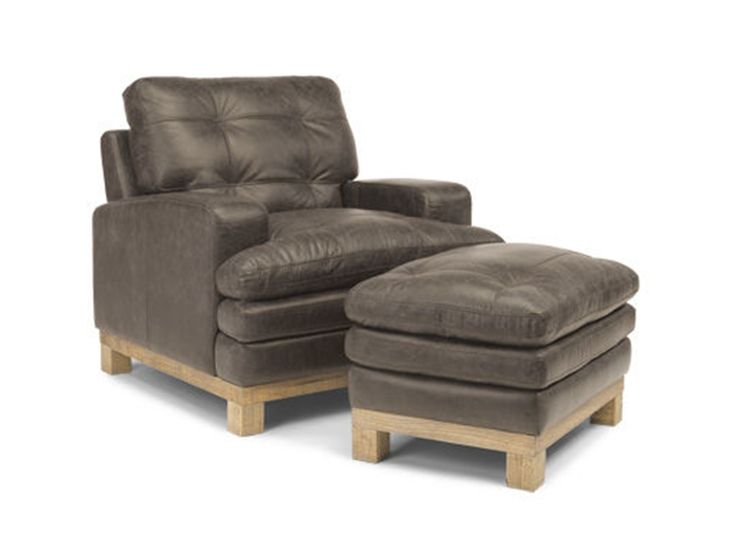 Flexsteel Living Room Leather Chair 1477 10 Woodley s