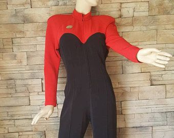 Star Trek cosplay uniform,1970s Star Trek jumpsuit for womens,vintage star trek original series one piece suit ,30% off this month