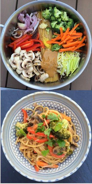 One Pot Pasta: Thai Peanut Butter Noodles
