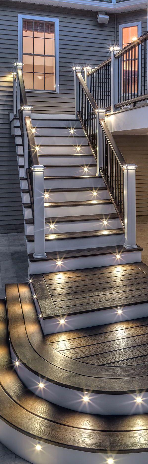 Lighting Basement Washroom Stairs: Best 25+ Deck Steps Ideas On Pinterest