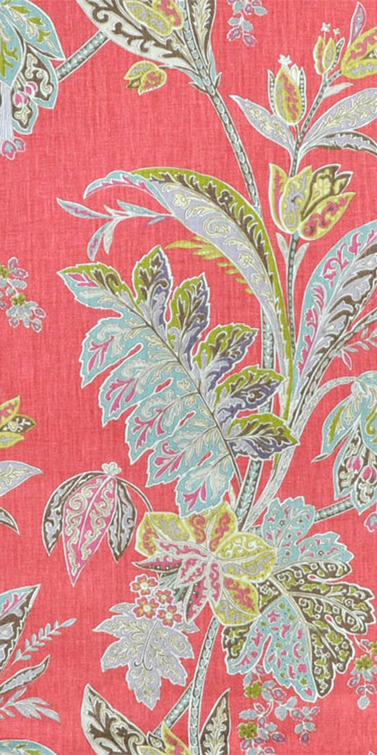 Best 25 Coral Fabric Ideas On Pinterest