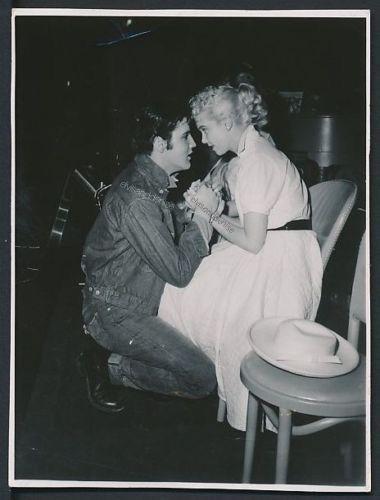 .1957 Elvis and Yvonne Lime backstage. Source Elvis Collectors
